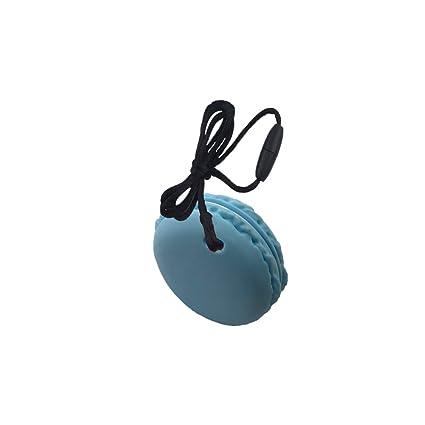 INCHANT azul Macaron bebé Mordedor de silicona juguete ...