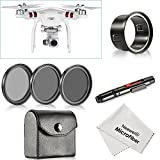 Neewer for DJI Phantom 3 Standard, 37MM Filter Kit: (3)Filters(CPL / ND4 / ND8)+(1)Filter Adapter+(1)Lens Cleaning Pen+(1)Cleaning Cloth, Not for DJI Phantom 3 Professional & Advanced