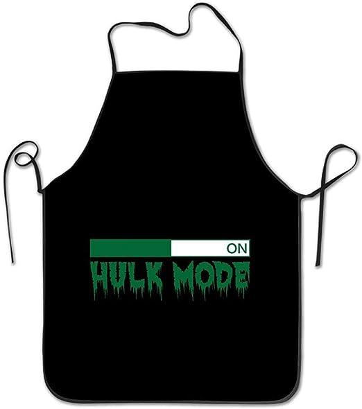 RIPO - Delantal de Cocina Unisex, diseño de Hulk Mode On: Amazon ...