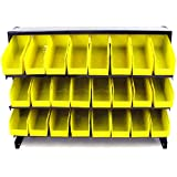24 Bin Parts Steel Construction Storage Rack Trays