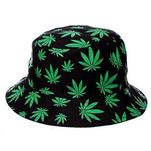 HOT-BUY-Allover-Marijuana-Weed-Print-Bucket-Hat-for-Men-or-Women