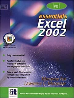 Essentials: Excel 2002 Level 1