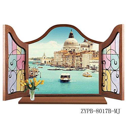 JMHWALL Newest European Style 3D Window View Removable Wall Sticker Muurstickers Home Decor 3d Duvar Sticker 3d wall sticker