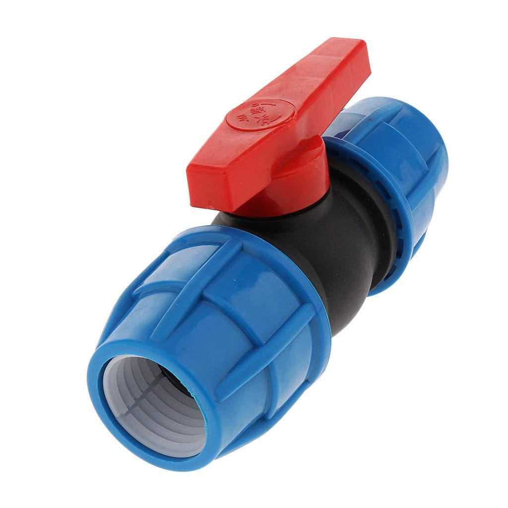 N/úcleo de Acero de 20 mm B Blesiya V/álvula de Pl/ástico PE V/álvula Recta N/úcleo de Pl/ástico y Acero