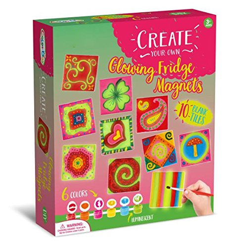 Magnetic Tile Art and Craft Activity Kit (Glow in the Dark) -