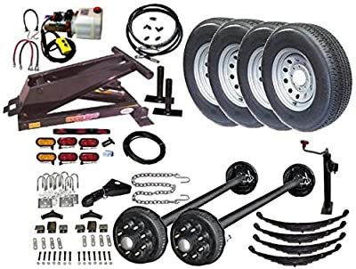 Dump Trailer Parts Kit- Hydraulic- 12,000 lbs Capacity. Brakes On Both Axles. Model 12HD