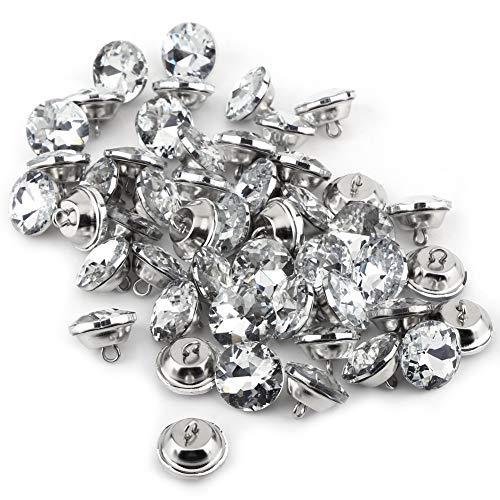Botones de cristal para coser, cristal Diamante Diamante de imitación Botones redondos Bricolaje Artesanía Sujetadores de...