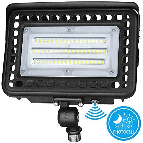 Knuckle Mount LED Flood Light - LED Lights 60W 7800Lm Dusk to Dawn Outdoor LED Flood Lights 5000K 300W MH Equal Outdoor Lighting for Doorways, Pathways, Yard, Landscape, Garden UL&DLC Listed ()