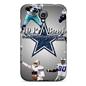 Samsung Galaxy S4 ZUE9077dkCA Unique Design Realistic Dallas Cowboys Image Shockproof Cell-phone Hard Covers -KellyLast