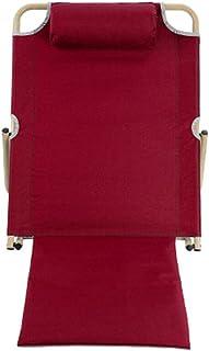 LIANGLIANG Coussin Haut Dossier Chaise Multifonction Pliable Multifonctions Métal Respirant 2 Couleurs Longueur 40/70 Cm (Couleur : Dark Blue Trumpet)