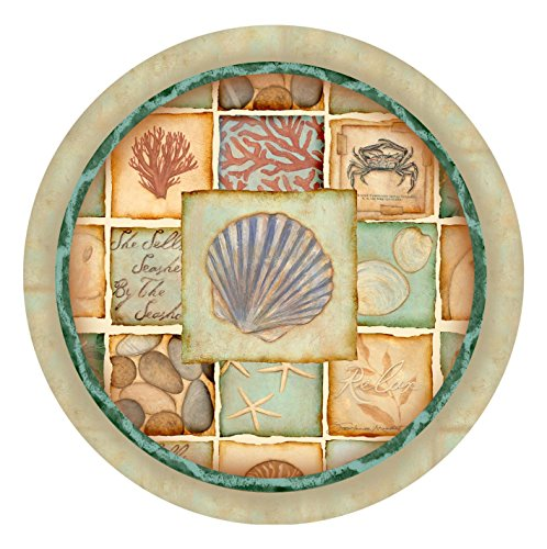 Thirstystone Stoneware Coaster Set, Nautical Patchwork