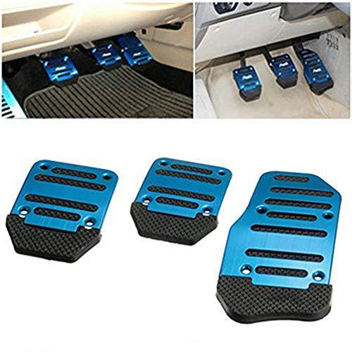 Sourcingmap 2pcs Burgundy AT Nonslip Metal Gas Brake Pedal Pad Covers for Car