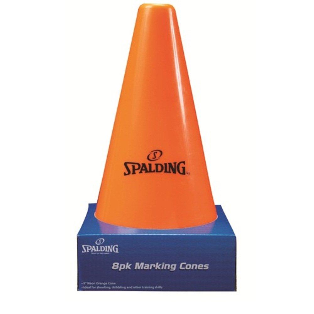 8 St/ück Orange Spalding Trainings-Zapfen