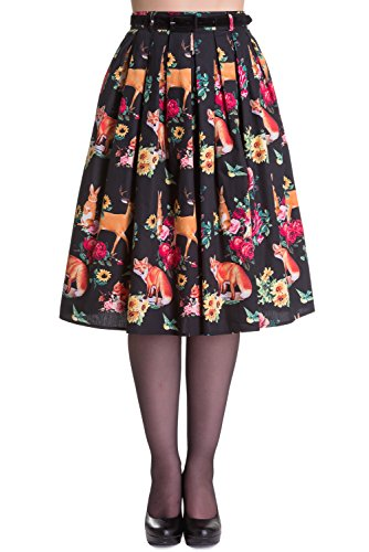 Hell-Bunny-Hermeline-Vintage-Retro-Rockabilly-50s-Style-Skirt