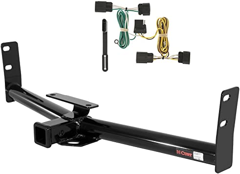 CURT Class 1 Trailer Hitch Bundle with Wiring for 2007 Ford Focus 112943 /& 56014