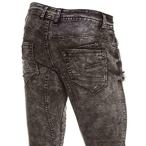 0eed6729c Project X - Jean jogger gris délavé déchiré homme - couleur: Gris ...