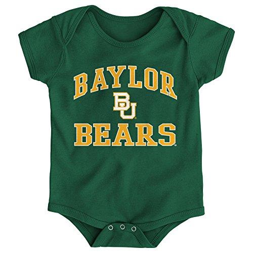 NCAA Baylor Bears Newborn & Infant Primary Logo Bodysuit, 12 Months, Hunter Green