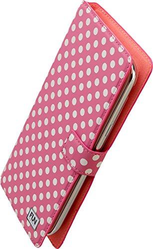 Iphoria Fun Book Case Little Dots Uni XXL5.7 für Apple iPhone 6 Plus/Samsung N910 Galaxy Note 4 pink