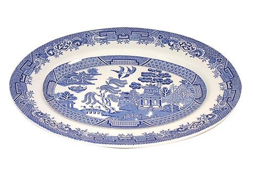 (Wood and Sons Blue Willow 12-Inch Oval)
