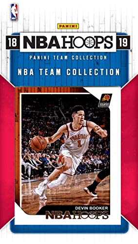 (Phoenix Suns 2018 2019 Hoops Basketball Factory Sealed 12 Card NBA Licensed Team Set with Devin Booker and a Rookie Card of Top NBA Draft Pick Deandre Ayton and Others)