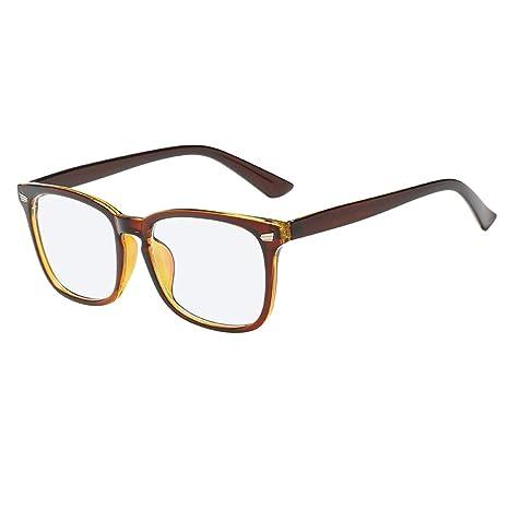 PorLous - BLU-Ray bloqueando Gafas cuadradas Retro Gafas ...