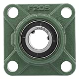 UCF205/205-16 30mm/25.4mm Pillow Block Square Bearing with Solid Base 4 Mounted Holes Bearing Base(02)