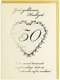 Goldene Hochzeit 50 Goldhochzeit Glückwunschkarte