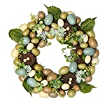 Factory Direct Craft Spring Artificial Egg and Bird Nest Twig Wreath for Indoor Decor