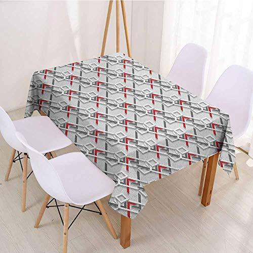 ScottDecor Fabric Tablecloth Rectangular Polyester Tablecloth W 52
