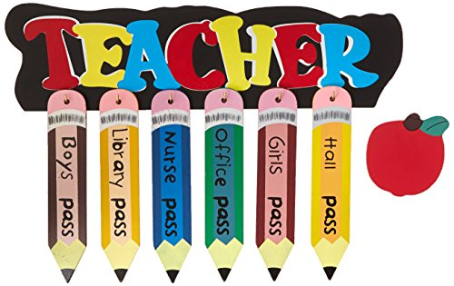 Hall Passes Library (Atlas 6042Z Pencil Shaped School Pass Set, Assorted Color)