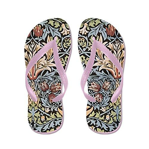 Cafepress William Morris Design - Flip Flops, Roliga Rem Sandaler, Strand Sandaler Rosa