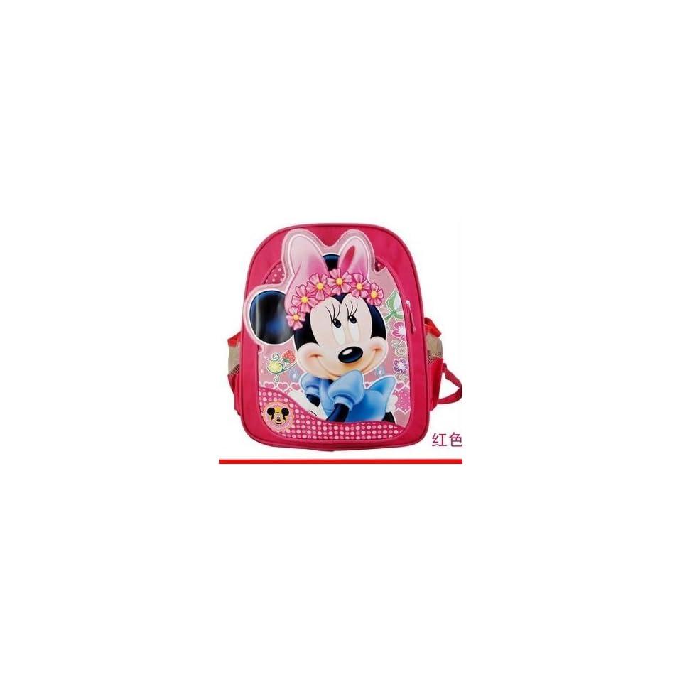 Toddler Kindergarten Disney Mickey Minnie Mouse School Bag Backpack red pink 11