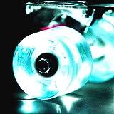 Wonnv LED Skateboard Cruiser Wheels with ABEC-9 Bearings 60×45mm Set of 4