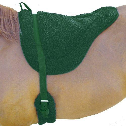 Green Fleece Bareback Pad Non Slip