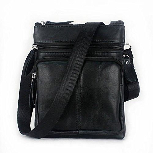 Birthday Gifts for Brothers, Urmiss(TM) Men Retro Cowhide Leather Casual Satchel Bag Crossbody Shoulder Bag Black