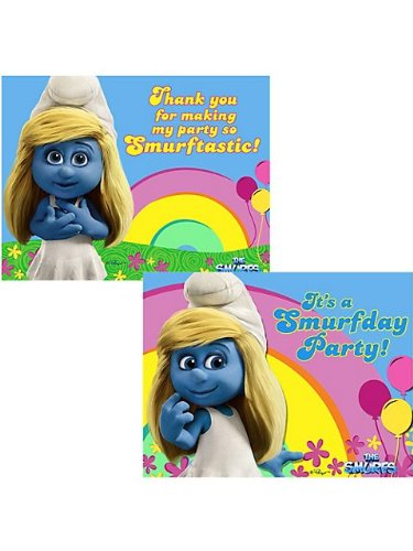 Smurfs Invitation & Thank You (8 Pack)