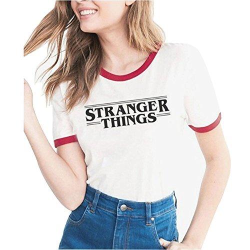 Beles Womens Stranger Things Print T Shirt