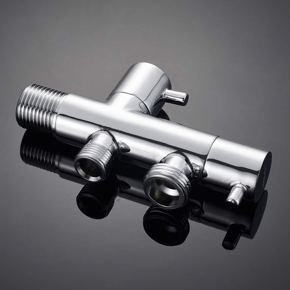 agua fria 1//2 * 3//8/'/' v/álvula de esquina GRIFEMA G153 Lat/ón//Crome COMPLEMENTO Llave de escuadra para ducha higeienica con salida cisterna 1//2