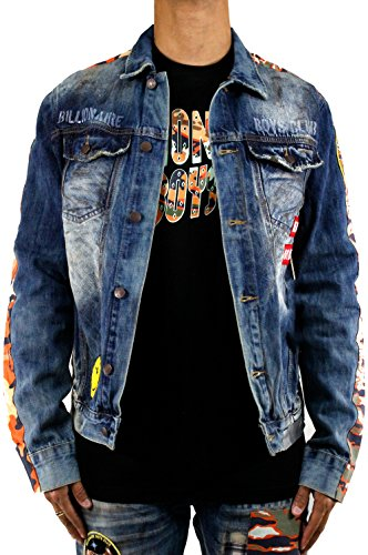 Billionaire Boys Club Nero Denim Jacket In Booster Gold 881-1406 - Boys Billionaire Club Jacket