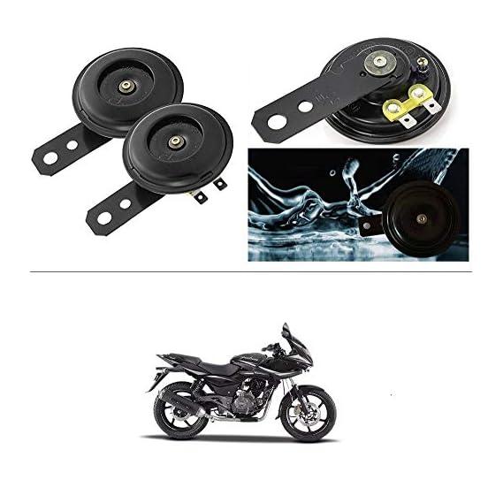 AutoGreat Horn 12V 105db Scooter Moped Dirt ATV Motorbike Moto Bikes Horn Loud Air Horns Motorbike Classic Horns (Set of 2) for Bajaj Pulsar 220 DTS-i