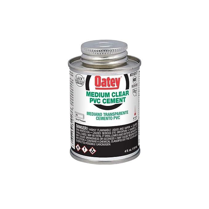 Oatey 31019 PVC Medium Cement, Clear, 16-Ounce - Contact Cements - Amazon.com