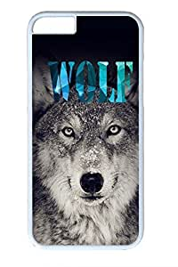 Cool Wolf Slim Soft Cover Case For Iphone 6 4.7Inch Cover PC White Cases