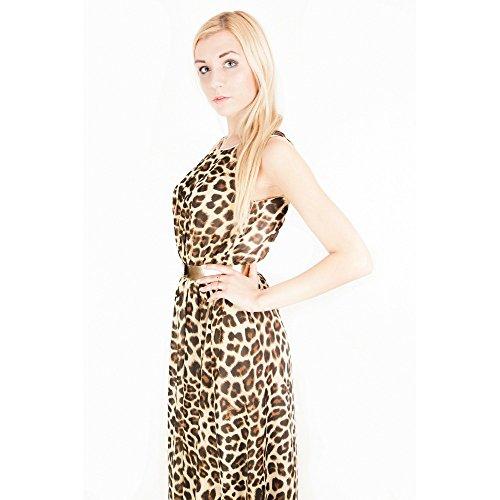 581a89c4f4 John Zack ASOS Maxi Dress Leopard Print  Amazon.co.uk  Clothing