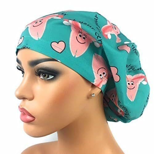 Amazon Com Dk Scrub Hats Womens Adjustable Bouffant Scrub