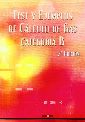 Descargar Libro Test Y Ejemplos De Calculo De Gas. Categoría B - 2ª Edición Cano Pina