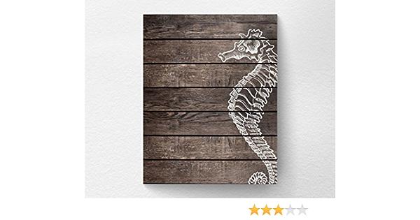 A4 Seahorse Wall Art Seahorses Couple Print Nautical Home Decor Unframed