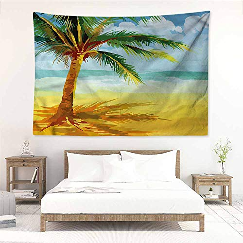 Sunnyhome High-end Quality Tapestry,Tropical Coconut Palm Tree Branch,Bedspread Yoga Mat Blanket,W59x39L