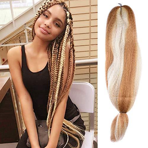(Fashion Lady Kanekalon Jumbo Braiding Hair Synthetic Kanekalon Braiding Hair For Twist Braiding Jumbo Braids Hair Extensions Hair Box Braids Hair(48Inch 57g/PC #27/613))