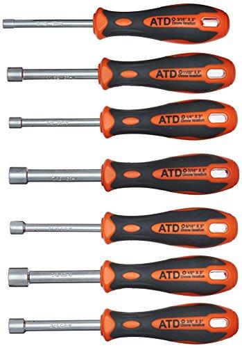 ATD Tools 6257 7-Piece Fractional Nut Driver Set