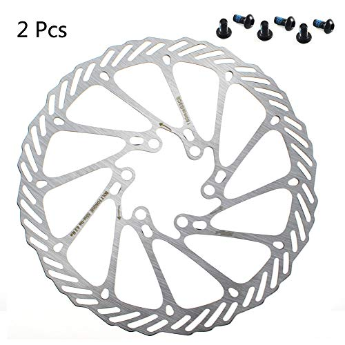 CYSKY 160mm Disc Brake Rotor 6 Bolts Stainless Steel Bike Disc Brake Rotor for Most Bicycle Road Bike Mountain Bike BMX MTB (Include 6 Screws, - Rotors Disc Brake Bicycle